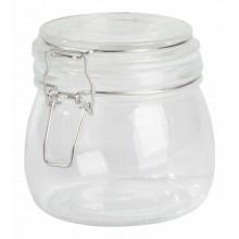 CLICKY üveg tárolóedény hintafedéllel, kapacitása kb. 500 ml